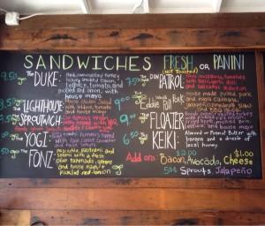 julie bad menu